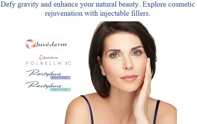 Defy gravity and enhance your natural beauty. Explore cosmetic rejuvenation with injectable fillers Juvéderm Jhuvederm VOLBELLA XC Restylanc REFYN Rastylan DEFYNE